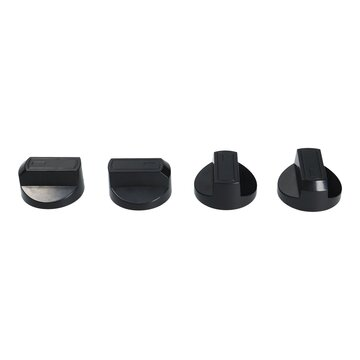 Knebelset 38mmØ schwarz mit Adaptern Universal für Kochfeld alle Marken 16-teili