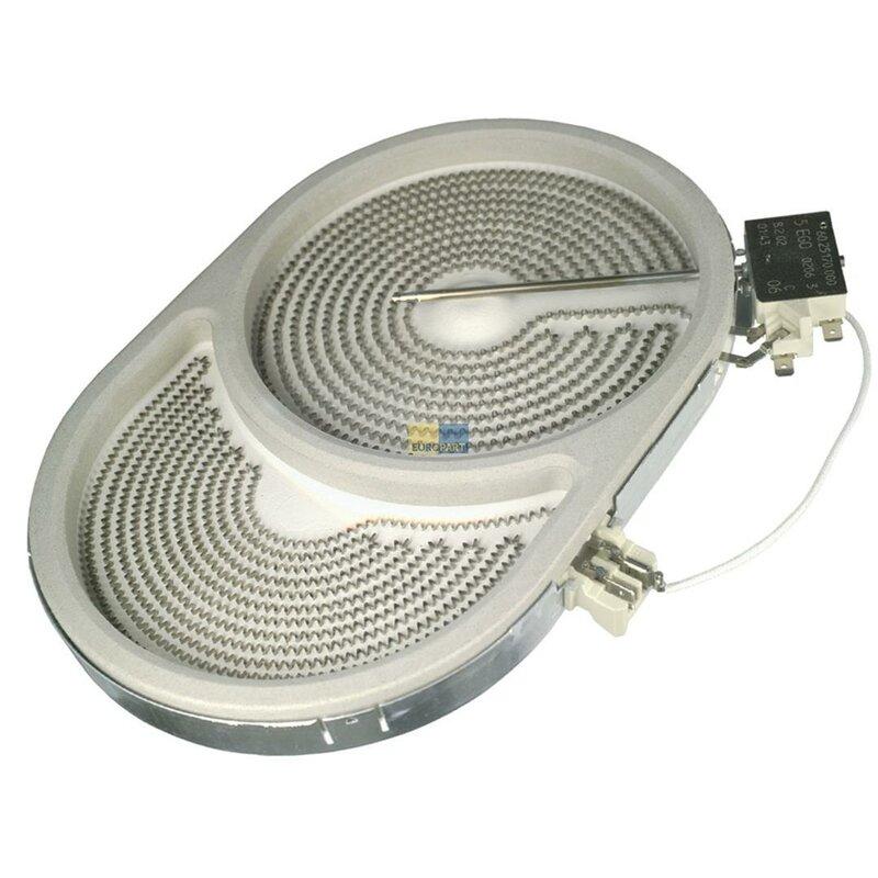 strahlheizk rper zweikreis hilight 265x170mm 2400 1500w 230v oval herd glaskeramik ego. Black Bedroom Furniture Sets. Home Design Ideas